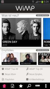Musik Streaming Dienste (Quelle: Wimp)