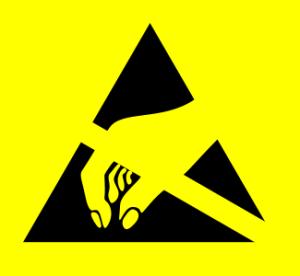 Symbol Gefahrenzeichen für ESD-gefährdete Bauteile