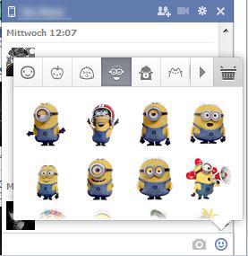 Das Facebook Sticker Minion Set