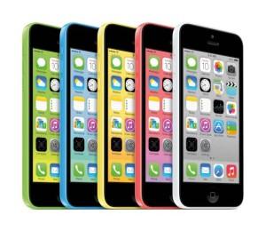 iPhone 5C in verschiedenen Farben