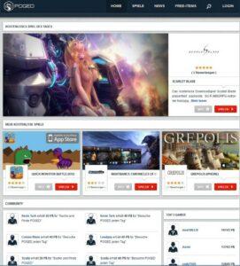 Homepage von Poged.com Screenshot