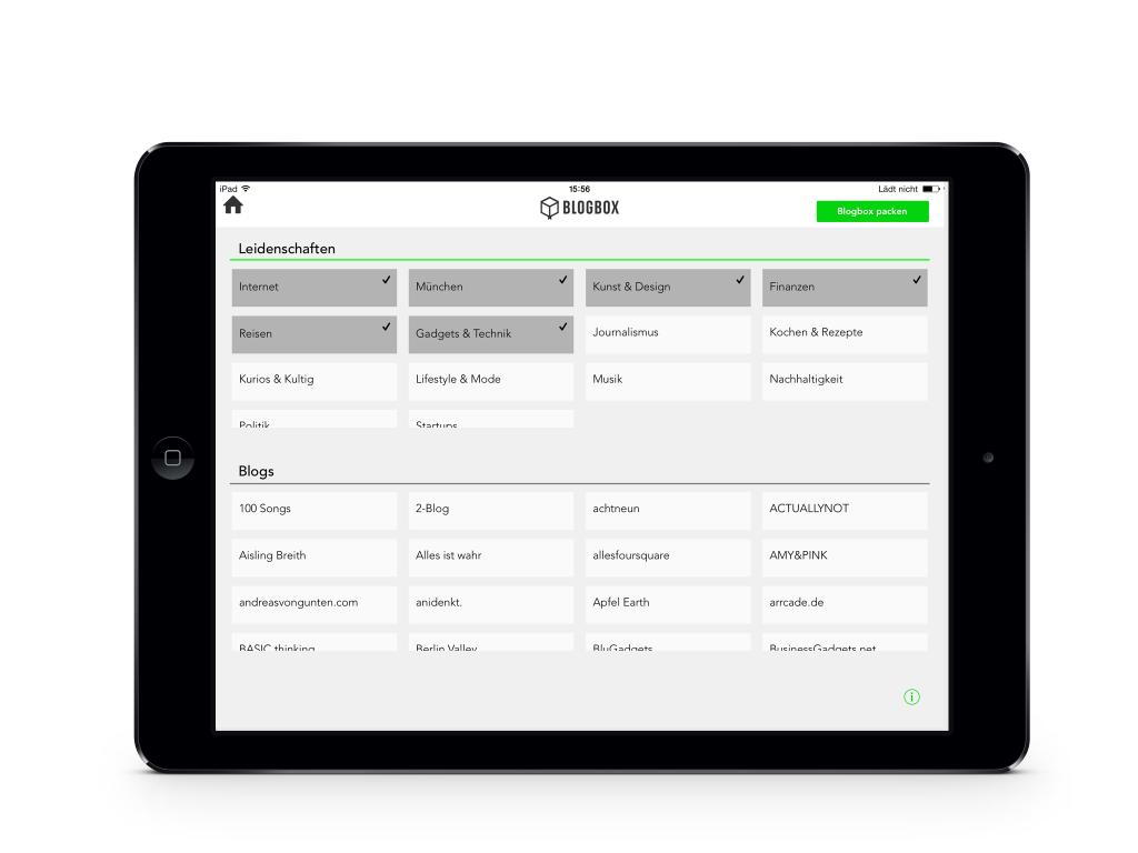 Die Blogbox App