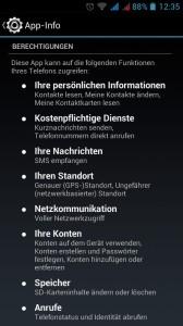WhatsApp Berechtigungen