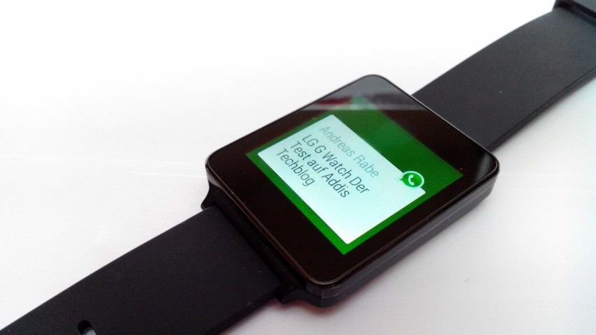 Whatsapp auf der LG G Watch