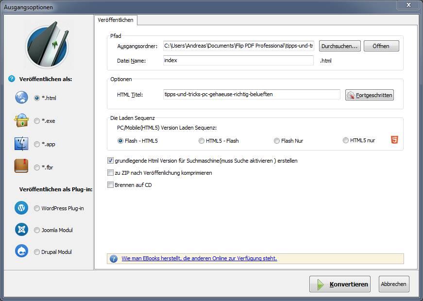 Flip PDF Pro Export