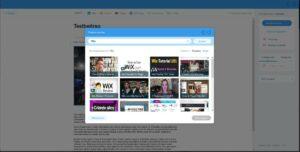YouTube, Vimeo, Wix