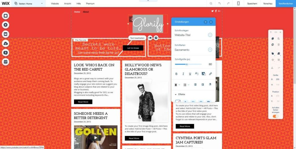 Wix Editor | Template | Blog
