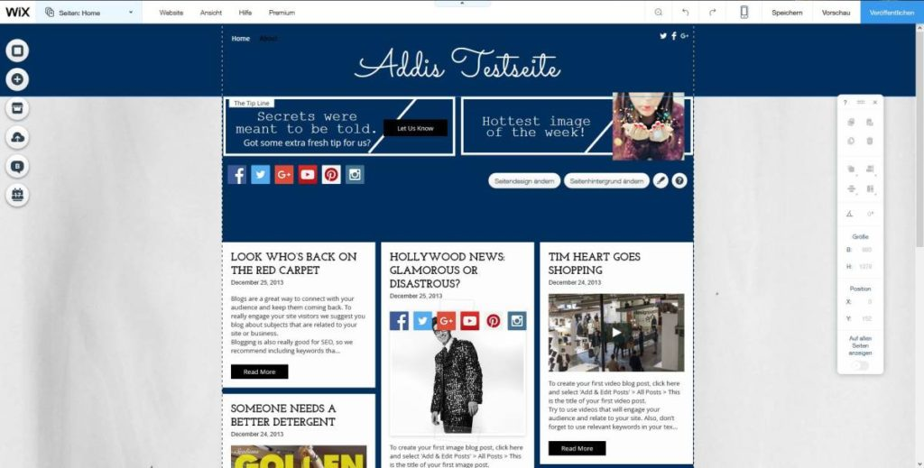 Template Wix | Tutorial | Blog