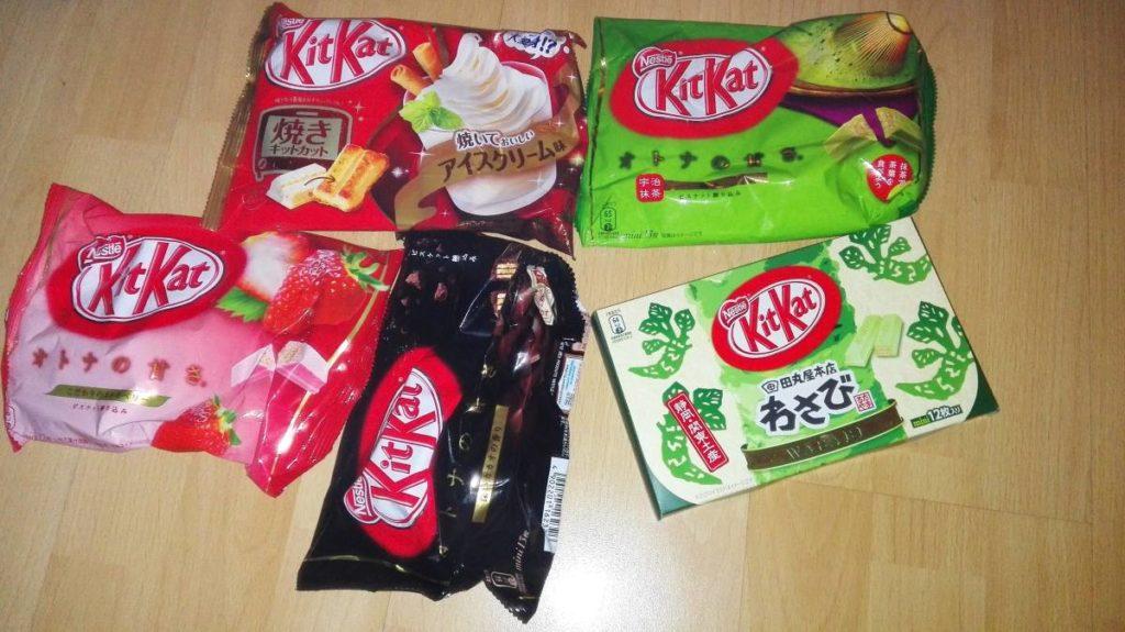 Kitkat aus Japan - verschiedene Sorten