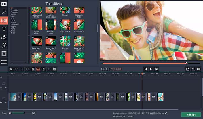 Der Movavi Video Editor