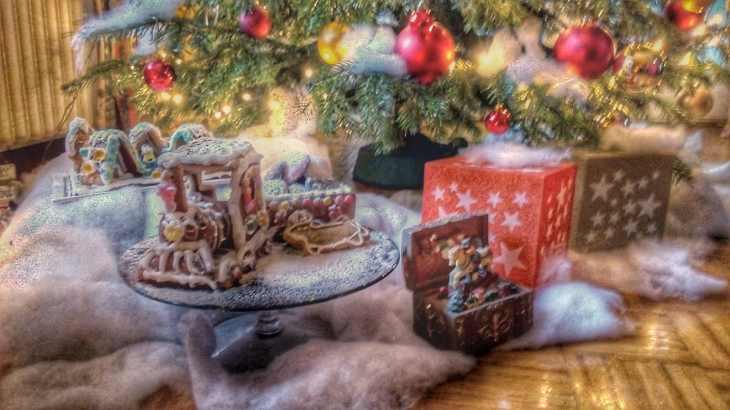 Weihnachten, Deko, Lebkuchen, Eisenbahn