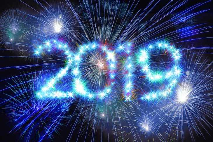Frohes Neues! Prost Neujahr 2019