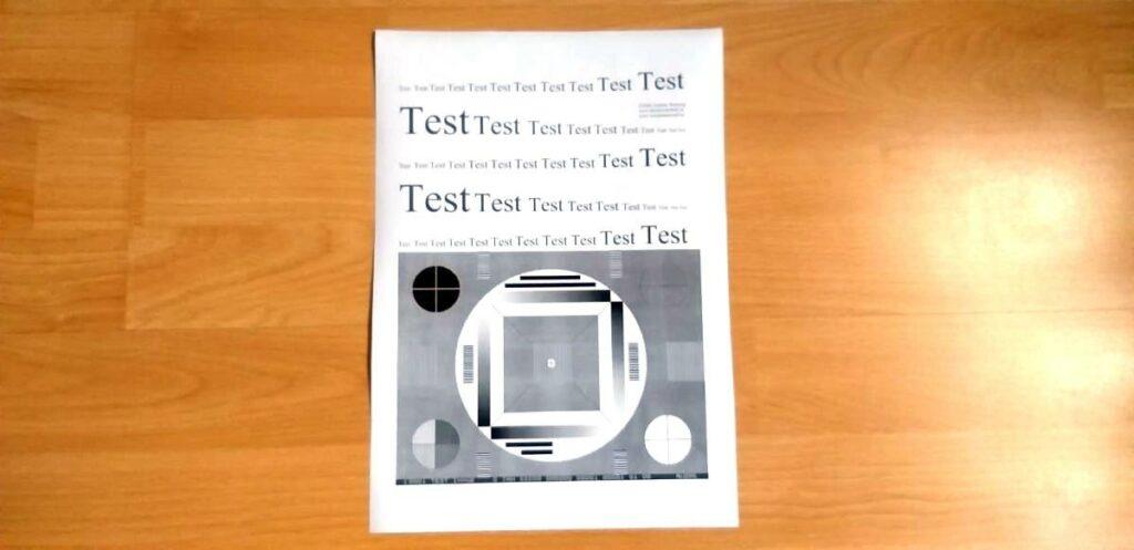 Testdruck mit HP Laserjet Pro M127fw
